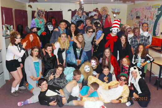 Halloween at the Alpine School