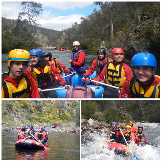 Students from 4A - Rafting